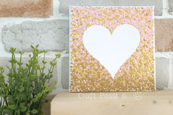 pink gold ombre heart