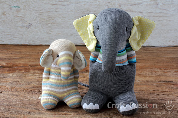 Sock Elephant Free Sewing Pattern Tutorial Craft Passion
