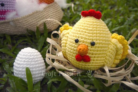 Golden Chicken & egg amigurumi pattern