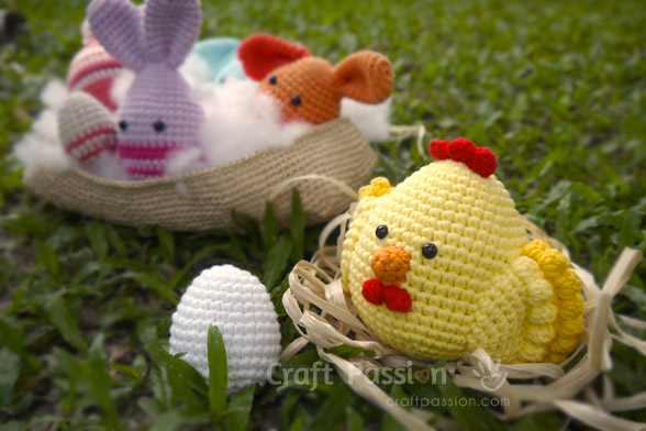 Golden Chicken Amigurumi & Egg Amigurumi