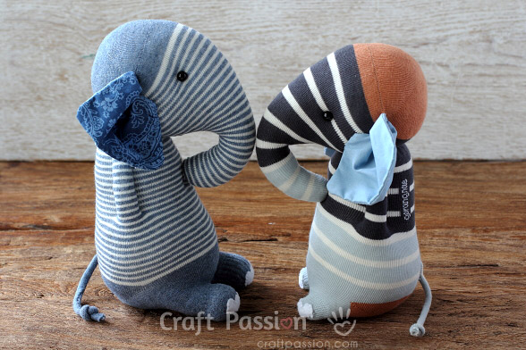 Sock Elephant - Free Sewing Pattern & Tutorial | Craft Passion