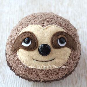 sock sloth face