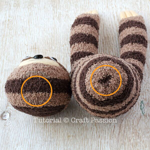 sock sloth tutorial 14