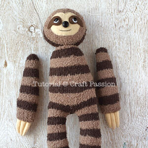how to sew sock sloth