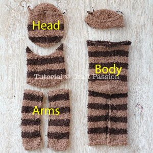 sock sloth tutorial 3