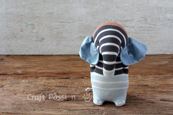 stripes sock elephant