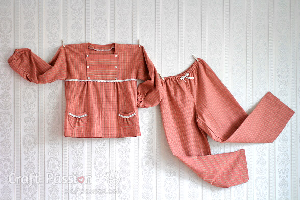 Girl Pajamas Sewing Pattern (5-12yo)