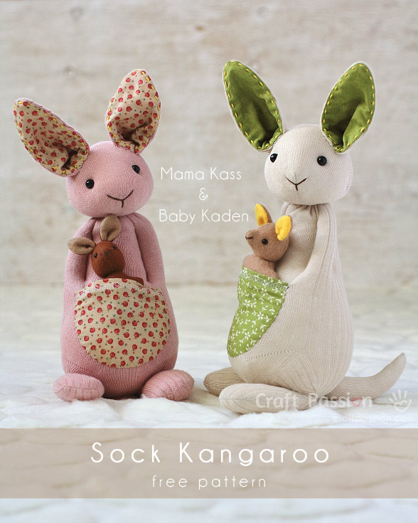 sock kangaroo pattern