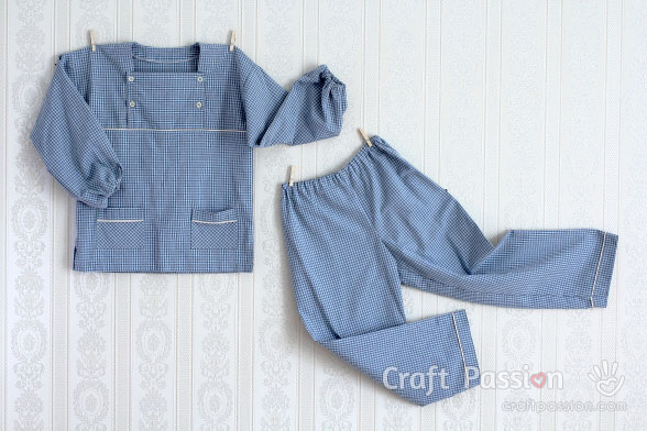 Boy Pajamas Sewing Pattern (5-12yo)