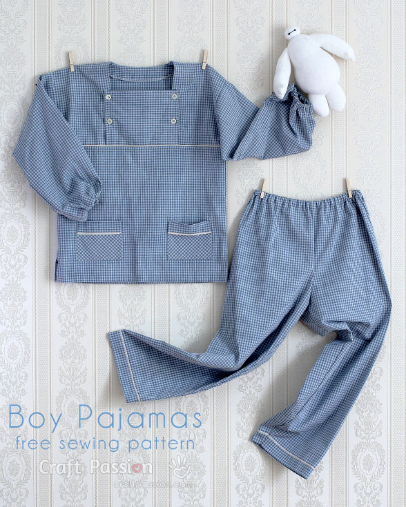 boy pajamas pattern