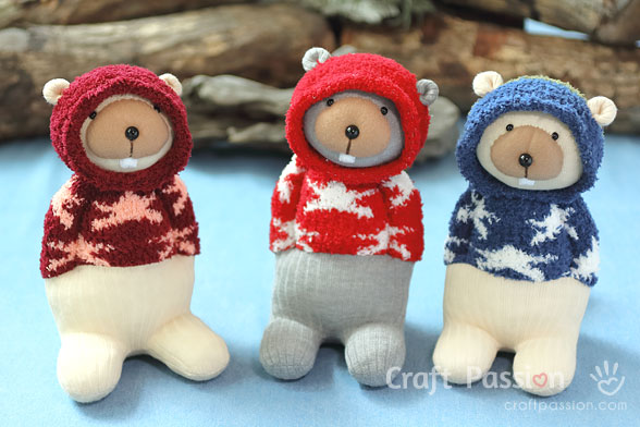 Sock Beaver Sewing Pattern
