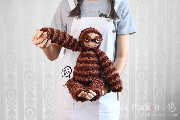 sloth amigurumi crochet pattern