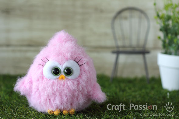 baby fur bird amigurumi