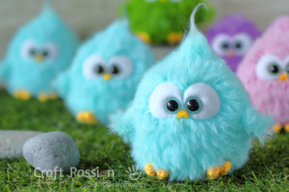 Fur Bird Amigurumi Crochet Pattern