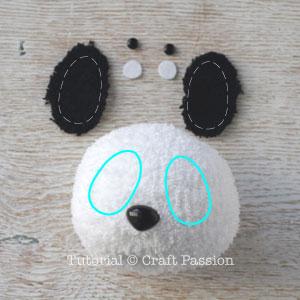 sew sock panda 11