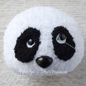 sew sock panda 14