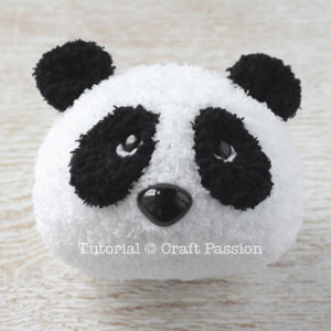 how to sew panda from sock