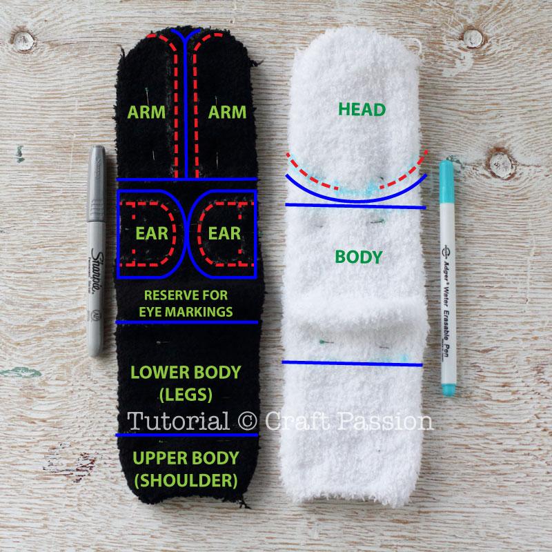 sew sock panda 2