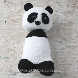 sew sock panda