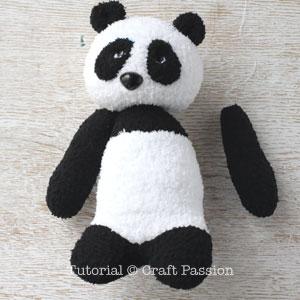 sew sock panda 23