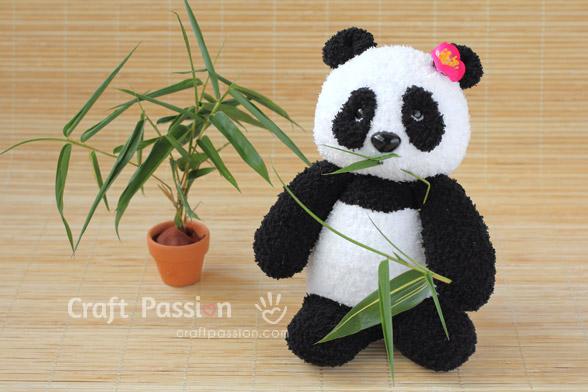 sock panda sew pattern