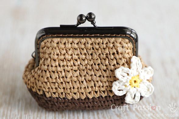 raffia gamaguchicoin purse