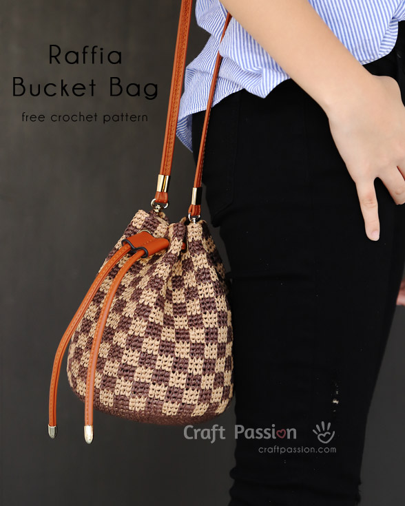Raffia Bucket Bag Small Free Crochet Pattern Craft Passion