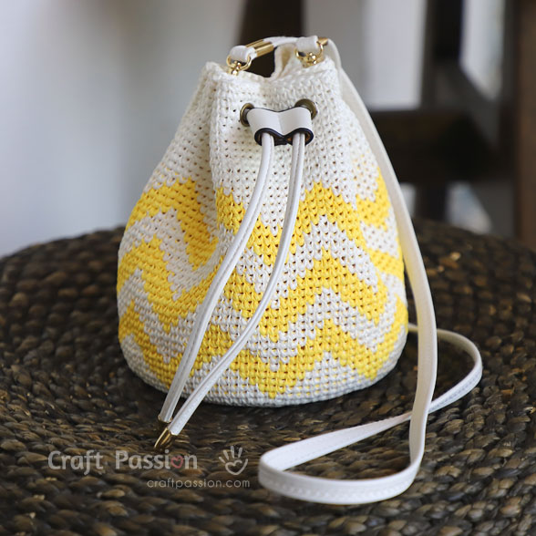 Crochet Bucket Bag Small Free Crochet Patterns Craft