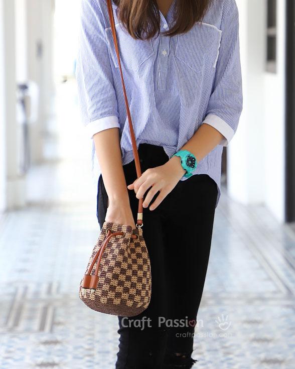 raffia bucket bag crochet pattern