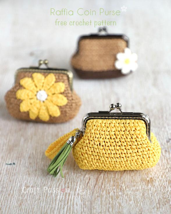 raffia coin purse