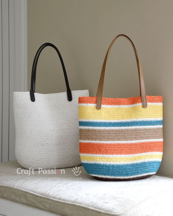 Tote Bag | Straw Tote Bag - Free Crochet Pattern | Craft Passion