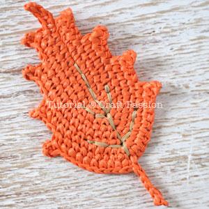 fall leaf crochet 15