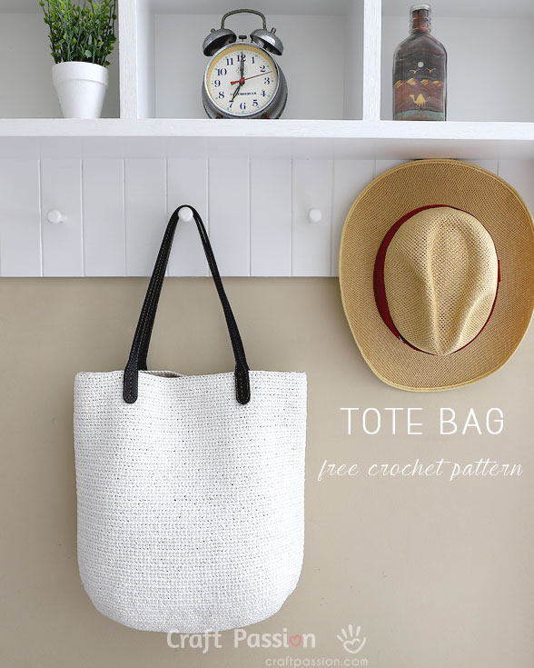 Tote Bag Straw Tote Bag Free Crochet Pattern Craft Passion