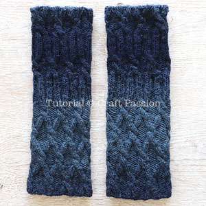 leg warmers knit pattern