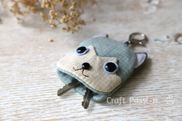 Husky Puppy Key Holder Sewing Pattern