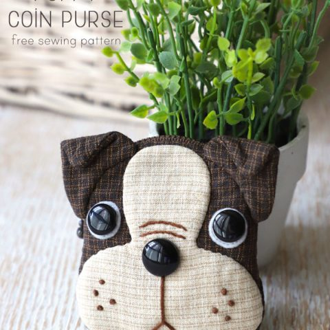Boston Terrier Puppy Coin Purse Sewing Pattern
