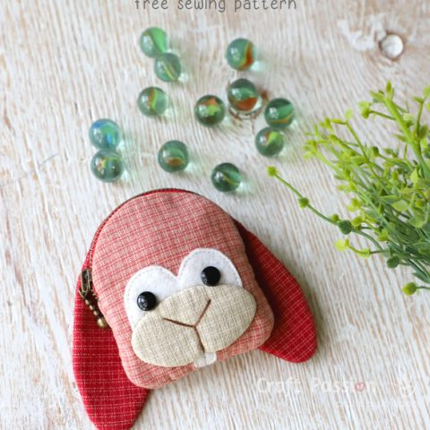 Bunny Coin Purse Sewing Pattern