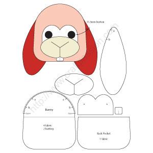 bunny coinpurse template