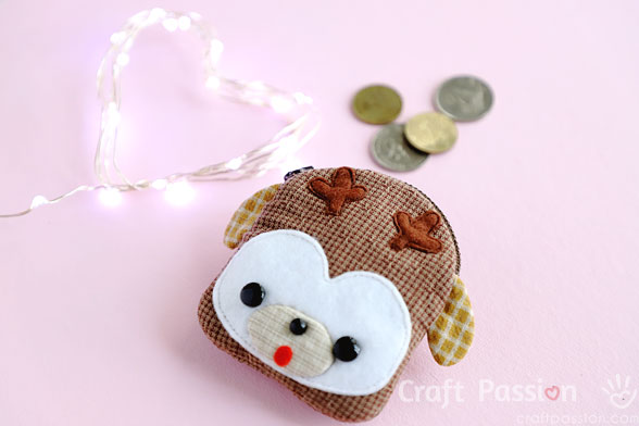 deer zipper coin purse