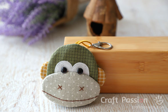 Ba Nana Monkey Key Pouch Sewing Pattern