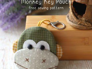 monkey key pouch pattern