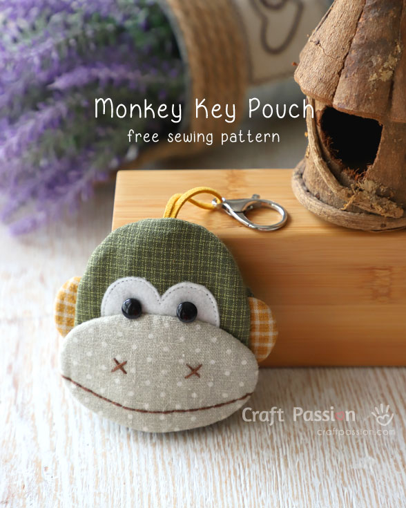 monkey key pouch pattern