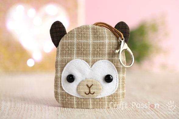 llama key bag