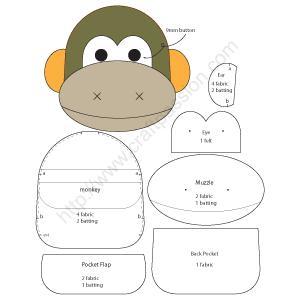 monkey keypouch template