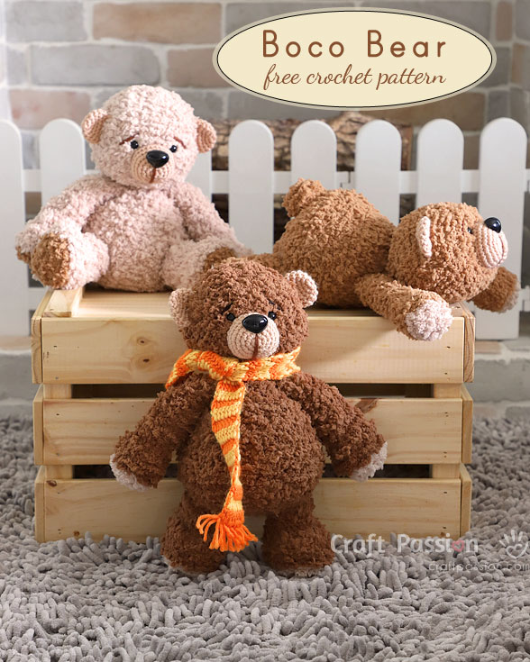 Bear Amigurumi Boco Bear Free Crochet Pattern Craft Passion