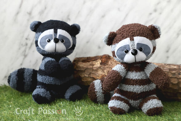 racoon sewing pattern