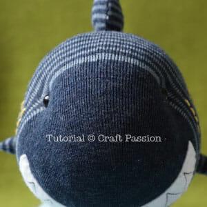 stuffed sock shark