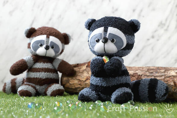 Sock Raccoon Sewing Pattern