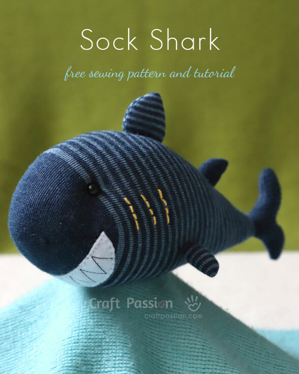 Sock Shark Pattern