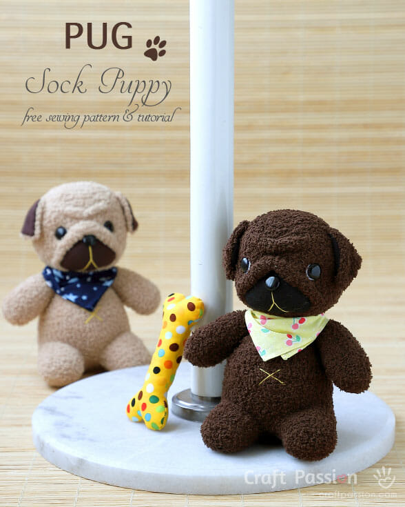 Sock Pug Puppy Pattern